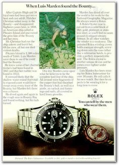 When Luis Marden found the Bounty... #Rolex