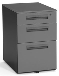 "Box / Box/ File Mobile Drawer Pedestal . $239.00. This file pedestal has two box drawers and one file drawer so you can keep everything organized! The central locking system keeps your files secure. File your letter or legal sized papers, or use the 15-1/2"" x 23"" top surface to hold your peripherals or office supplies. Five included casters with full ball-bearing suspension make this a truly mobile file pedestal. 14 gauge steel for strength. Easy assembly. Measures 15-1/2""W x ..."