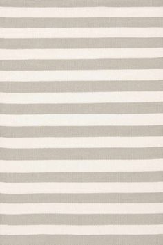 RugStudio presents Dash And Albert Trimaran Stripe Platinum/Ivory Woven Area Rug