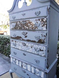 Stenciled Dresser by Ryan's Daughter Designs | Furniture Stencils Collection by Royal Design Studio
