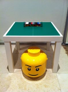 My first Ikea hack – a lego table for the kids!  So simple!