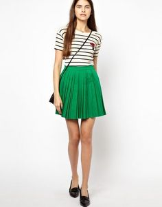 7 Kelly Green P-eces For St Paddy's Day That Will Take You Into Spring Sonia by Sonia Rykiel Pleated Skirt, $442.25, available at ASOS.