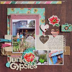Creatively Savvy: Junk Gypsies HQ - DCWV Vintage Collector - Susan Stringfellow #DCWV