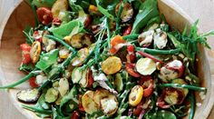 Tahini Dressed Zucchini and Green Bean Salad