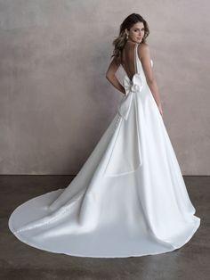 Style: 9813   Allure Bridals Modest Dresses, Bridal Dresses, Wedding Gowns, Bridesmaid Dresses, Bow Wedding, Wedding Wishes, Elegant Wedding, Wedding Details, Prom Boutiques