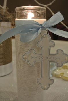 Baptism decor that's easy and affordable