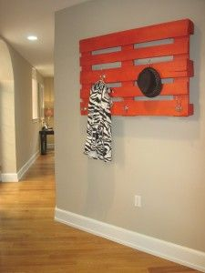 Pallet - Finally a coat rack