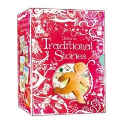Traditional stories gift setA beautiful gift collection of five favourite traditional stories, including 'The Three Little Pigs', 'The Gingerbread Man' and 'Little Red Riding Hood'.Each book has a hardback cover and ribbon page marker, and are presented together in a special slip-case, making a wonderful present for young readers.The five stories are part of the popular Usborne Reading Programme.Specially produced to celebrate the 40th anniversary of Usborne Publishing in 2013.See the other…