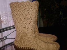 botas tejidas a crochet