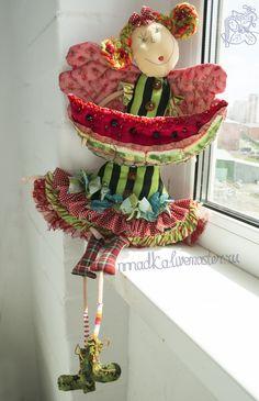 Коллекционные куклы ручной работы. Ярмарка Мастеров - ручная работа Арбузный фреш. Handmade.
