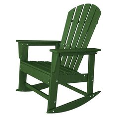 Polywood South Beach Patio Rocking Chair - Green