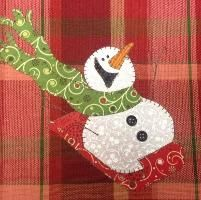 Sledding Fun, A Really Cute Snowman - via @Craftsy