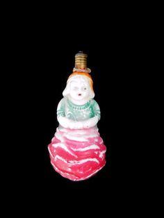 Vintage Figural Milk Glass Christmas Light Bulb by LeasAtticSpace