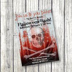 Teen Halloween Party, Fairy Halloween Costumes, Halloween Skull, Scary Halloween, Fall Halloween, Halloween Ideas, Printable Baby Shower Invitations, Baby Shower Invites For Girl, Birthday Invitations