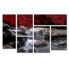 Home Marketplace Philippe Sainte-Laudy 'Red Vison' Multi-Panel Art Collection