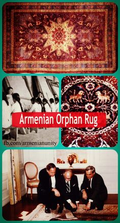 """The Armenian Orphan Rug    The big loom was set up for an """"Isfahan."""" The 400 orphaned girls worked in shifts and spent 18 months on its completion. It was then sent to Washington and presented at a special ceremony to the White House in recognition of the help rendered by the American people to Armenian orphans."""
