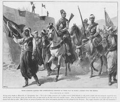 An 1897 British depiction of bashi-bazouks on their way to fight the Greek rebels shows the Ottoman flag with an star. Ottoman Flag, Ottoman Empire, Sassanid, Turkish Army, Classical Antiquity, Dutch Artists, Weird World, 14th Century, North Africa