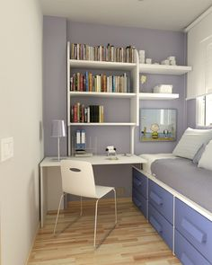 Petite Chambre Ado En 30 Ides Fascinantes Pour Votre Enfant with regard to dimensions 800 X 1000 Kids Small Bedroom Ideas - The color-coded design inside this tiny bedroom stipulates […] Small Teen Room, Small Room Bedroom, Girls Bedroom, Trendy Bedroom, Single Bedroom, Cozy Bedroom, Teen Rooms, Box Room Bedroom Ideas For Kids, Master Bedroom