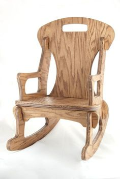 Child-Sized Contemporary Handmade Rocking Chair by FabLabTacoma