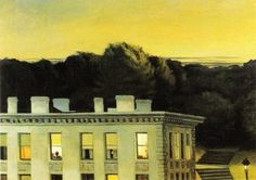 Edward Hopper House At Dusk oil painting for sale; Select your favorite Edward Hopper House At Dusk painting on canvas or frame at discount price. American Realism, American Artists, Edouard Hopper, Edward Hopper Paintings, Kunsthistorisches Museum, John Piper, Robert Rauschenberg, Photocollage, Madrid
