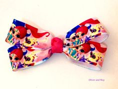 Shimmer and Shine Hair Bow Clip by OliverAndMay on Etsy