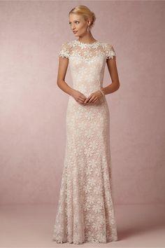 Robe de mariée, manches courtes Wedding dress Nova Lace - BHLDN