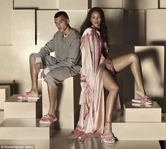 Rihanna stars alongside rumoured former flameDudley O'Shaughnessy (left) in her latest campaign for the sportswear brand Puma