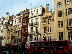 Building facades near Trafalgar Square, London
