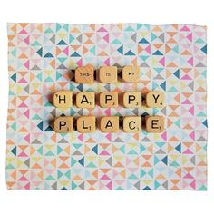 This Is My Happy Place Throw Blanket - Deny Designs, Multi-Colored Cute Quotes, Happy Quotes, Affirmations, Happy Vibes, My Happy Place, Positive Vibes, Life Lessons, Are You Happy, Quotes To Live By