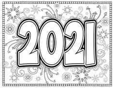 New Year Coloring Pages, Cute Coloring Pages, Coloring Pages For Kids, Coloring Sheets, Coloring Books, Free Coloring, New Year's Crafts, Crafts For Teens, Arts And Crafts
