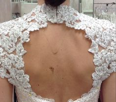 Detachable beaded and appliqued keyhole by RosemaryDesignsBride