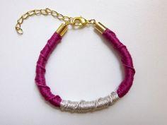 plum friendship bracelet