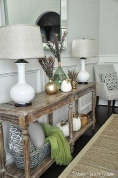 Styling Your Entryway | Entryway console table, Entryway console and ...
