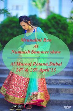 Beat the heat this summers with our latest collection y Mrunalini Rao available at Numaish, Dubai. Date: 24th & 25th of April'15 Venue: Al Murooj Rotana, Dubai