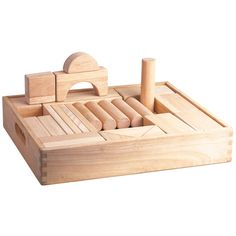 These carefully crafted, chunky wooden blocks provide endless fun and learning opportunities for little ones who love to create and build. There are lots of shapes and sizes so every play session is sure to be unique. When play time's over, everything can be stored within the sturdy wooden tray. Ages 2 years and up. 52 play pieces. http://shop.bigjigstoys.co.uk/p/large-wooden-blocks