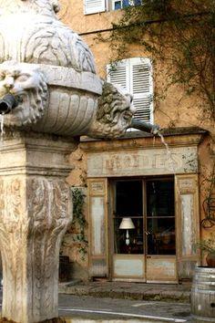 Fountain in Cotignac, Provence, France
