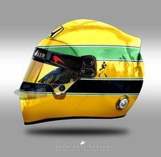 Classic Formula 1 Helmets  Modern Style: Classic Formula 1 Helmets: Modern Style Racing Helmets, Motorcycle Helmets, F1 Racing, Karting, Formula 1 Helmets, Ayrton Senna Helmet, Grand Prix, Ruby Helmets, Aryton Senna