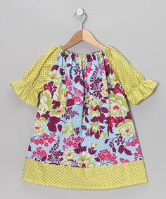 Take a look at this Purple Bouquet Peasant Dress - Toddler & Girls by Swag on #zulily today!
