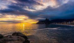 Sunset Leblon arpoador Rio de Janeiro Brazil