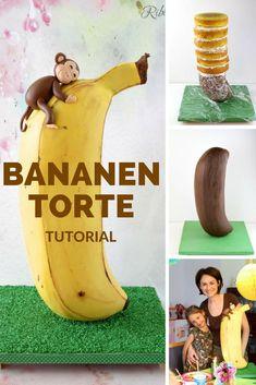 Anleitung für eine stehende Bananentorte mit vielen Schritt-für-Schritt Fotos!
