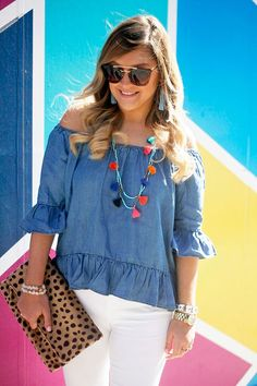 Cara's Colorful Outfit! - Chic of the Week via LaurenConrad.com