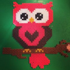 Owl hama perler beads by Christina George-Heeney
