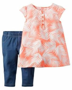 NWT Gymboree OLIVIA Size 2T or 3T Olivia Nightime Top and Striped Leggings