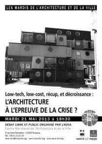 """Débat : """"L'architecture à l'épreuve de la crise ?""""  http://www.aera-cvh.org/cultures/les-mardis-de-l-architecture/"""