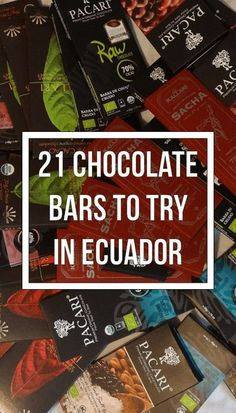 If you love chocolate, this article is for you: one traveler's report on 21 different kinds of chocolate in Ecuador. Positiv Turismo, Quito. positivturismo.com.