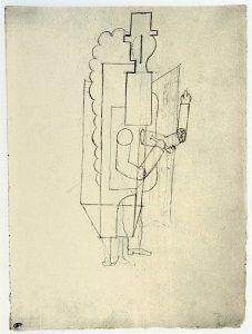 1917 Étude pour le manager français du ballet Parade, opp16-127