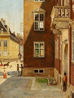 Wilhelm Marstrand (1810-1873): View through a window in the study of C. W. Eckersberg at Charlottenborg, 1829