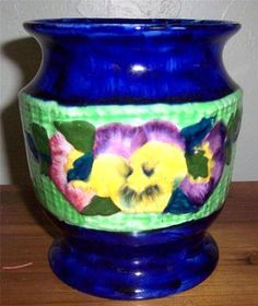 Ringstons Ltd Ceramic Viola Hand Painted Vase by Maling Ware Made In England  $146.25 www.jaxsprats.com