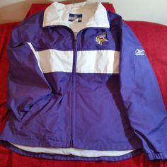 Reebok NFL Team Apparel Minnesota Vikings Jacket M Medium #Reebok #MinnesotaVikings