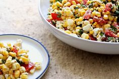 Fresh raw corn shucked from the cob is ideal here. The juice from the tomatoes delivers just the right amount of acidity, so there's no need for vinegar. (Photo: Suzy Allman for The New York Times)